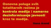 Hana Arend objašnjava kako propaganda koristi laži da bi se erodirala istina i moralnost