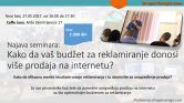 Seminar: Kako da vam reklamiranje donosi više prodaja na internetu? Novi Sad, 27.05.2017.