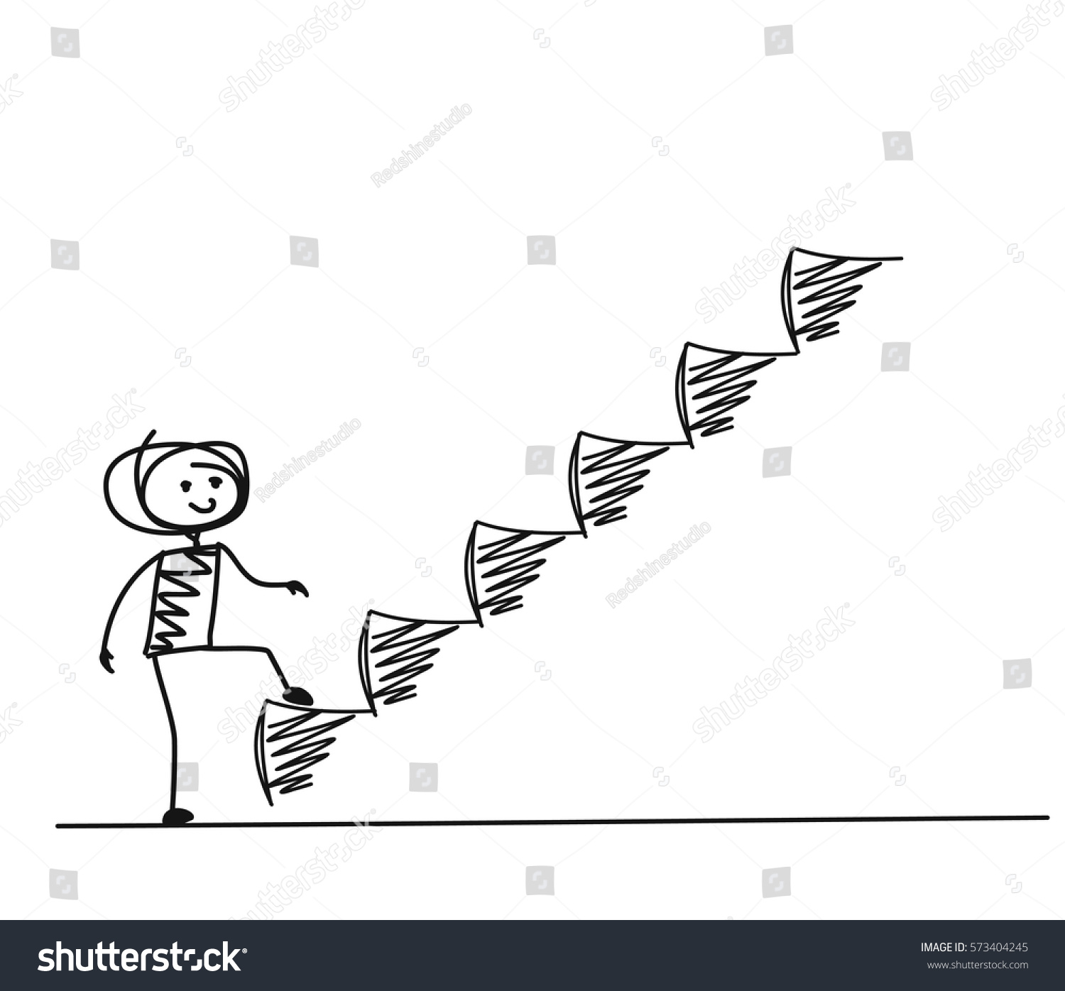 stock-vector-man-taking-step-or-achievement-cartoon-hand-drawn