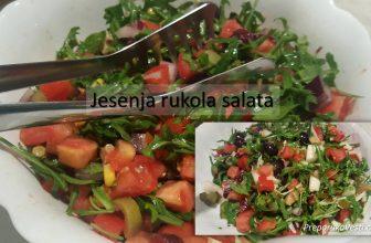 Bogata jesenja rukola salata – Orasi, brusnica, grožđe, kruška…